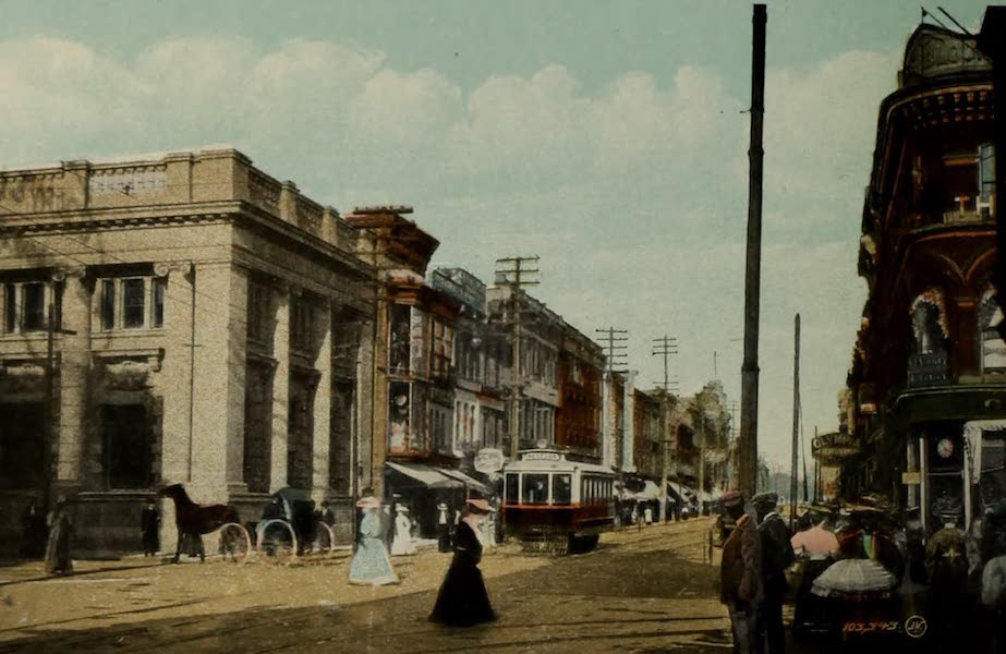 Views of London, Ontario - Dundas Street, showing Bank of Commerce, London, Ont. (1910)