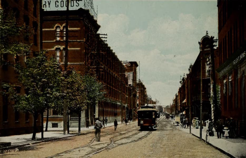 Views of London, Ontario - Richmond Street, looking North from the Grand Trunk Railway Station, London, Canada (1910)