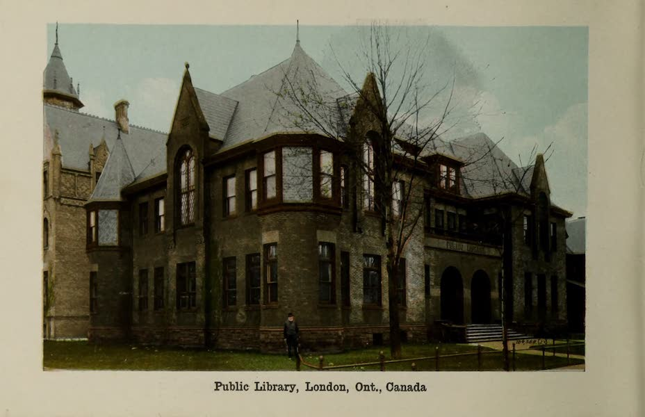 Views of London, Ontario - Public Library, London, Ont., Canada (1910)