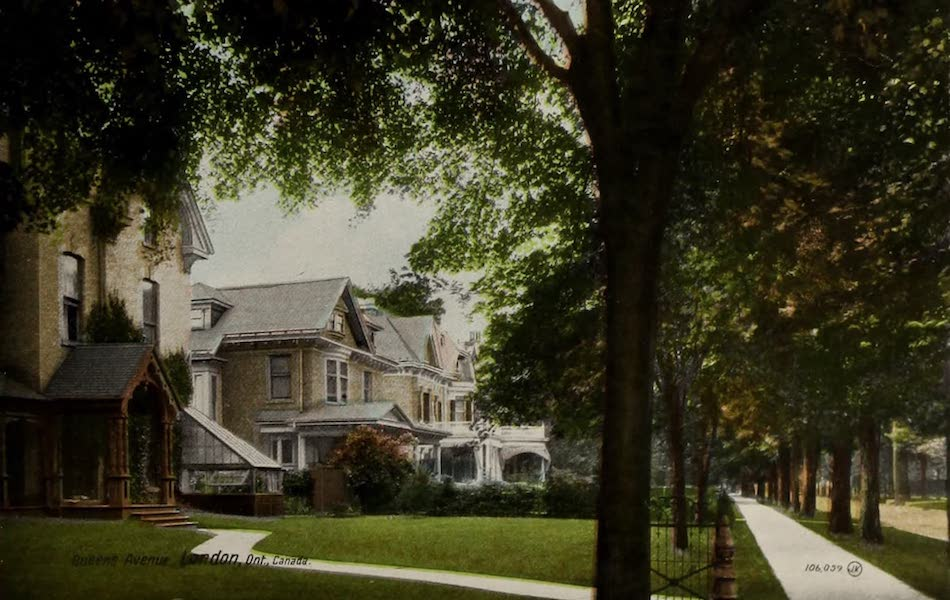 Views of London, Ontario - Queen's Avenue, London, Ont., Canada (1910)
