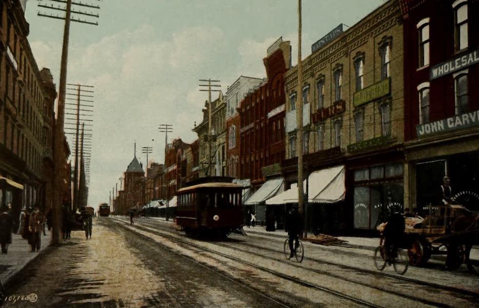 Views of London, Ontario - Dundas Street, looking West from Richmond Street, London, Canada (1910)