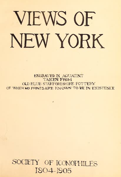 Views of New York - Title Page (1904)