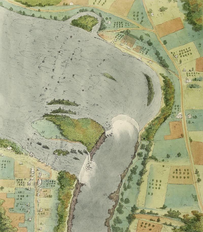Views of Niagara - Bird's Eye View Taken From Mr. Catlin's Model (1831)