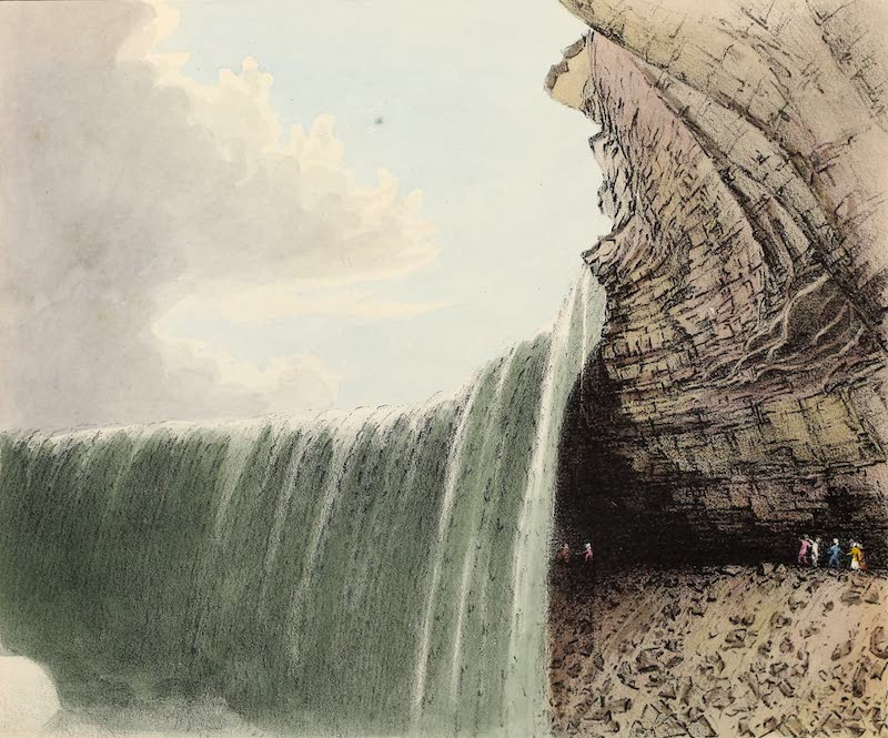 Views of Niagara - View from the Foot of the Stairway, U.S. Shore (1831)