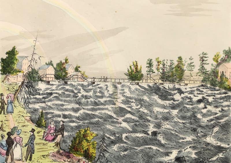 Views of Niagara - Rapids and Bridge Above the Fall, U.S. Shore (1831)