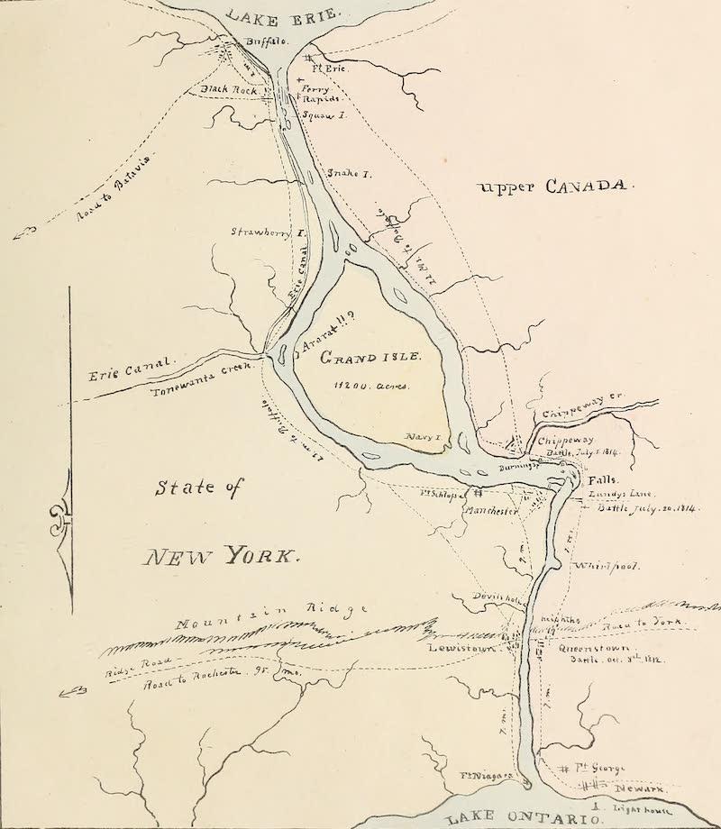 Views of Niagara - Chart of the River Niagara Between the Lakes Erie and Ontario (1831)