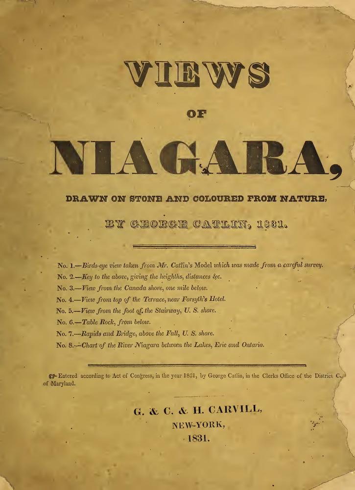 Views of Niagara - Title Page (1831)