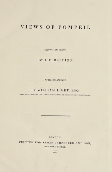 Views of Pompeii - Title Page (1828)