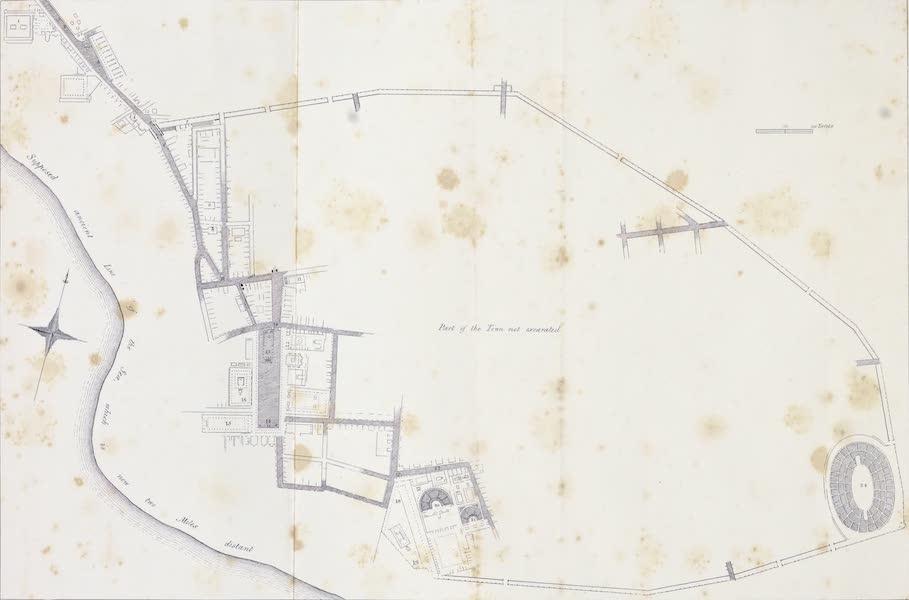 Views of Pompeii - Plan of Pompeii (1828)