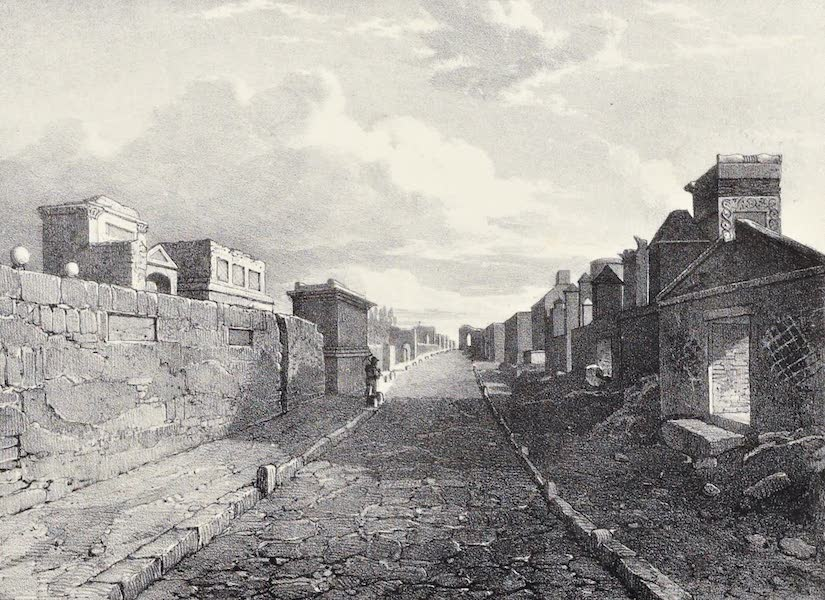 Views of Pompeii - Street of the Tombs (1828)