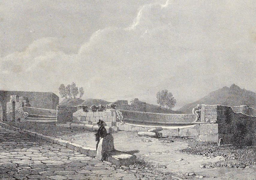 Views of Pompeii - Semicircular Seats (1828)