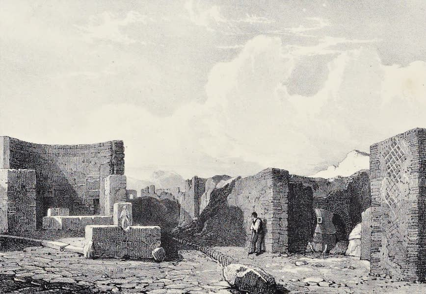 Views of Pompeii - One of the Fountains at the Corner of the Street (1828)
