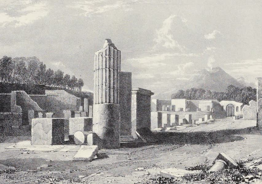 Views of Pompeii - Foro Civile, looking towards the Temple of Jupiter. (1828)