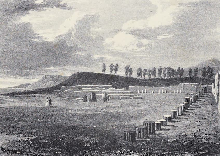 Views of Pompeii - Temple of Hercules, looking towards the Portico (1828)