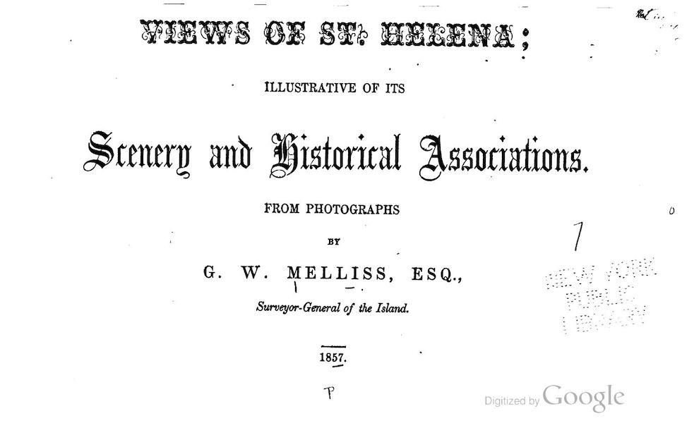 Views of St. Helena - Title Page (1857)