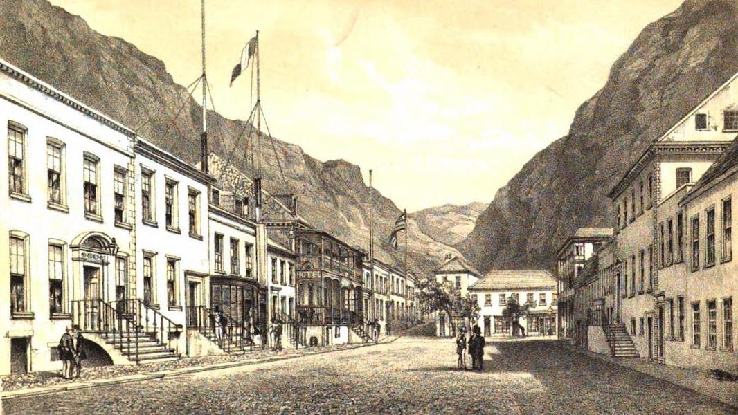 Views of St. Helena - View of Upper Part of Main Street (1857)