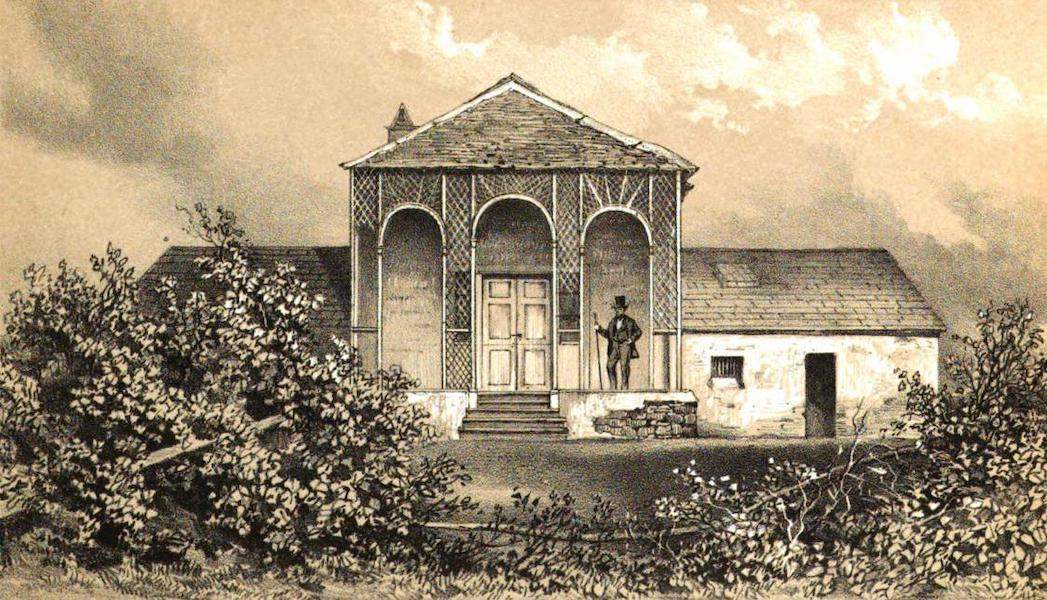 Views of St. Helena - Front view of Longwood Old House (1857)