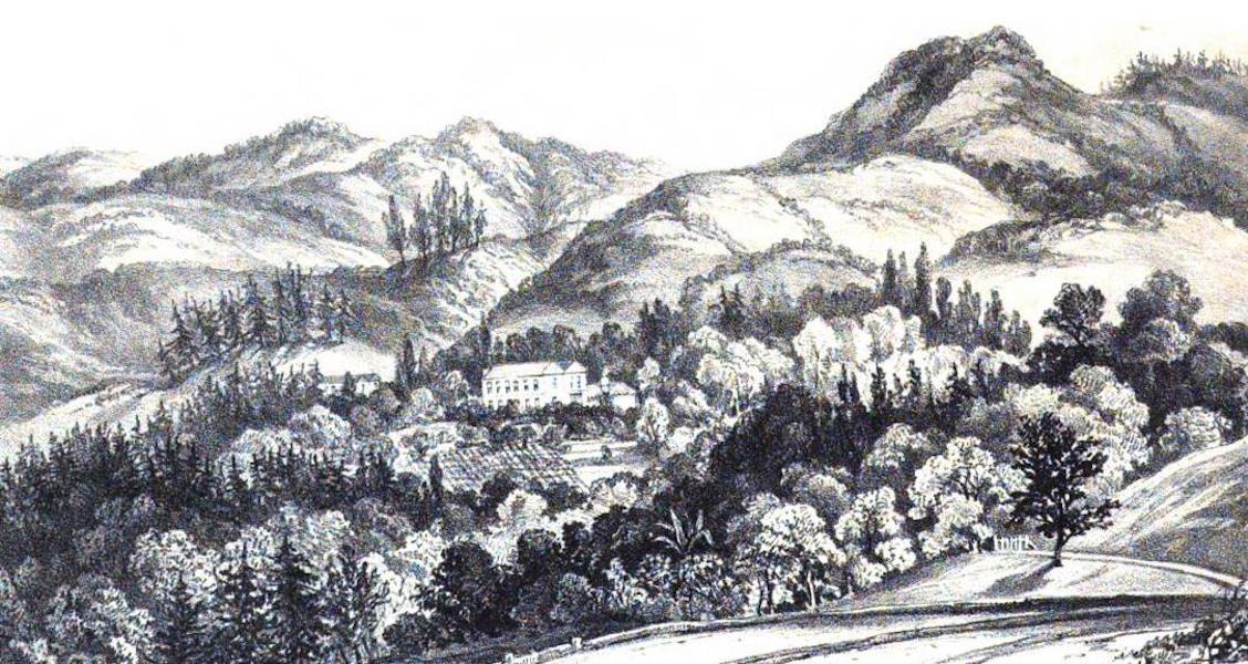 Views of St. Helena - Oak Bank (1857)