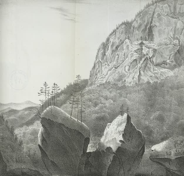 Views of the Adirondack Mountain Region - View of the Indian Pass (1838)