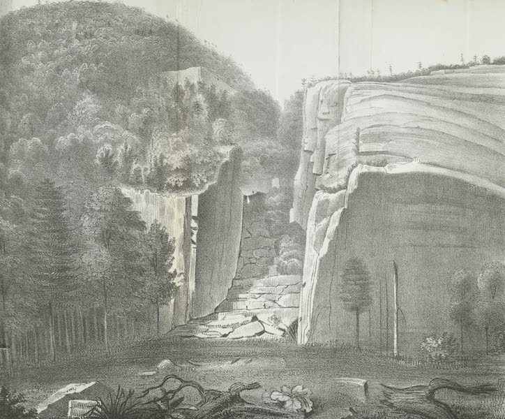 Views of the Adirondack Mountain Region - Trap Dyke at Avalanche Lake (1838)