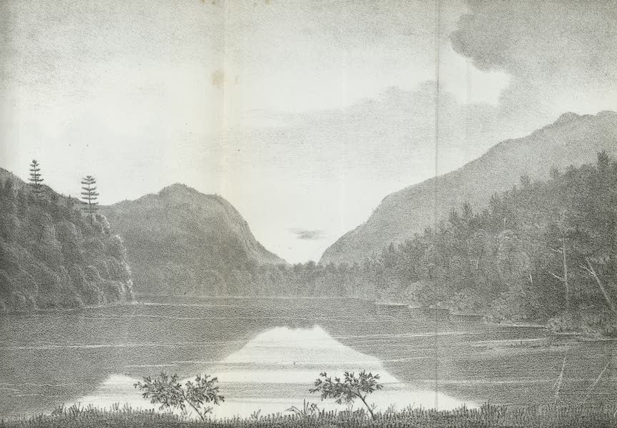 Views of the Adirondack Mountain Region - View at Lake Colden (1838)