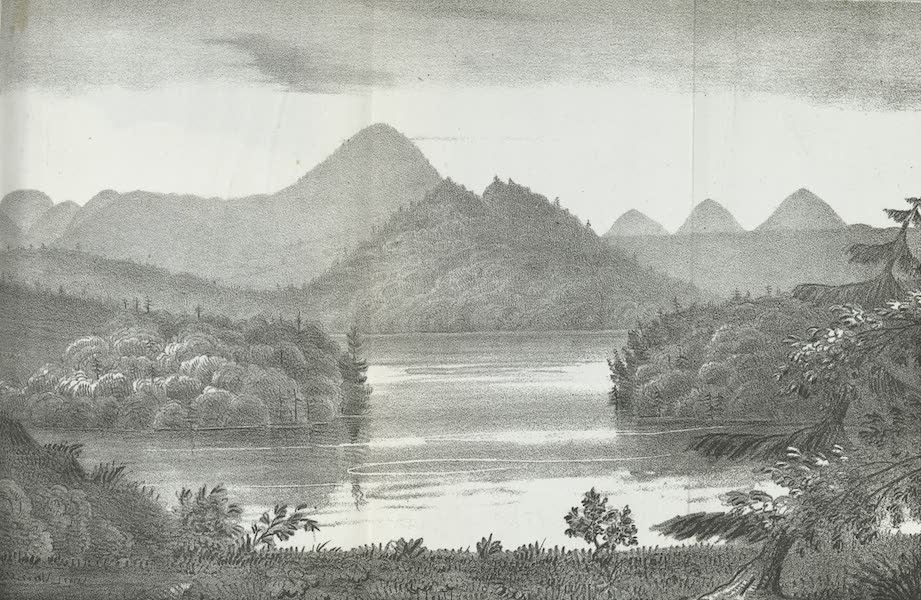 Views of the Adirondack Mountain Region - Distant View of Mt. Marcy (1838)