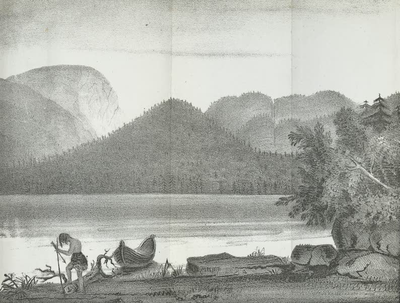 Views of the Adirondack Mountain Region - View of the Indian Pass, from Lake Henderson (1838)