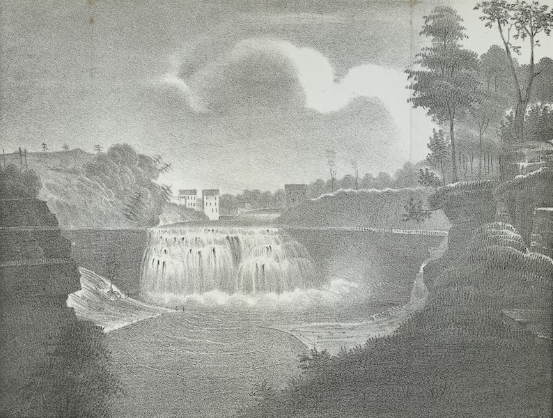 Views of the Adirondack Mountain Region - Falls of the Genesee (1838)