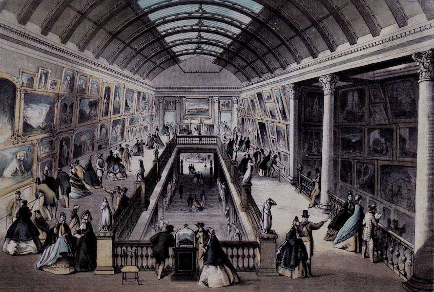 Views of the Dublin Exhibition - Picture and Sculpture Galleries (1865)
