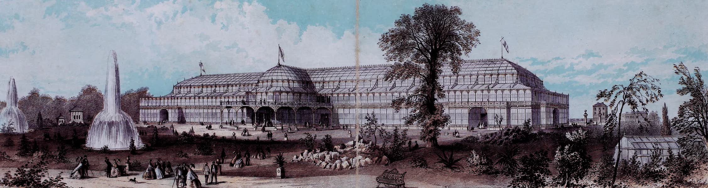 Views of the Dublin Exhibition - The Dublin International Exhibition from the Gardens (1865)