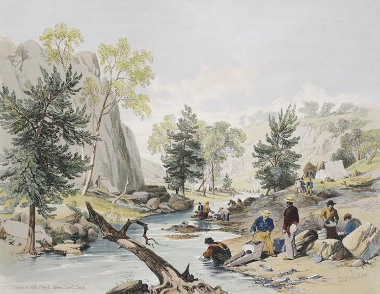 Views of the Gold Regions of Australia - Summer-Hill Creek, below Lewis' Ponds. Gold Washing (1851)