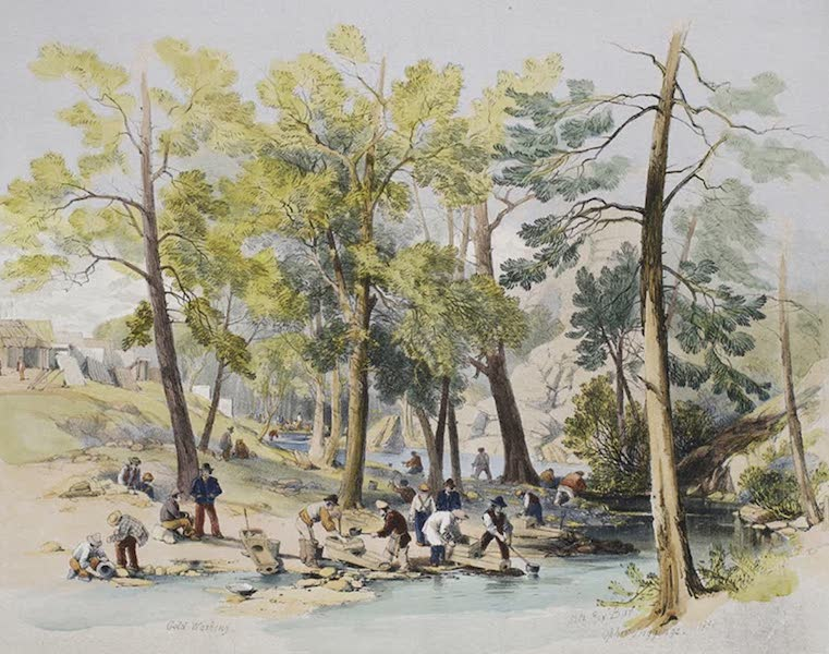 Views of the Gold Regions of Australia - Fitzroy Bar, at the Junction of two Creeks (1851)