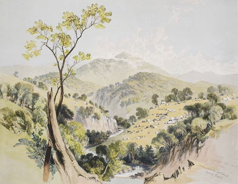 Views of the Gold Regions of Australia - General view of Ophir (1851)