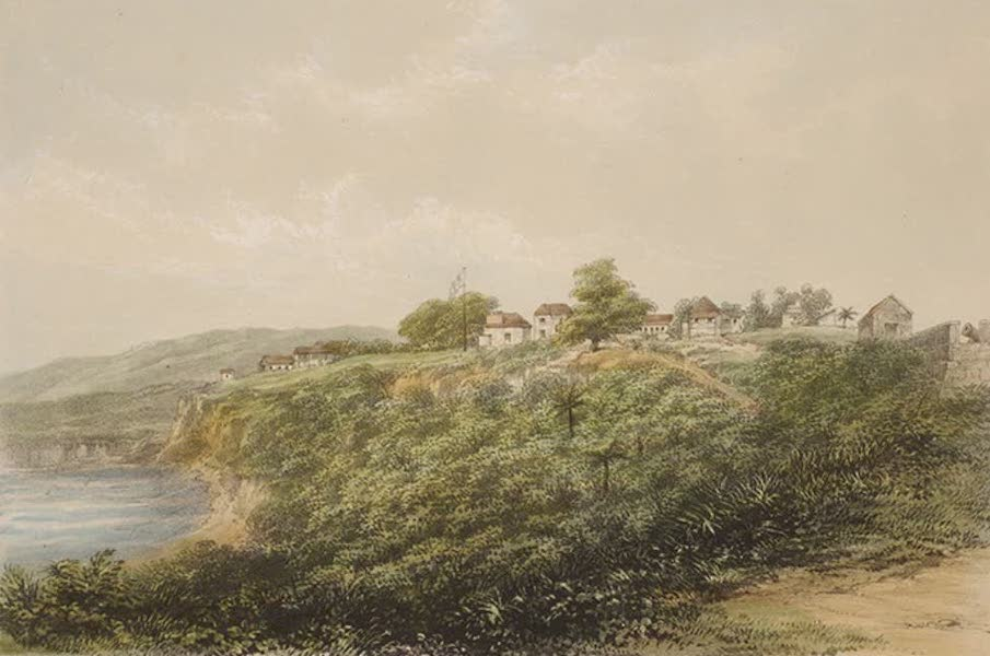 Views of the Island of Dominica - Morne Bruce from the Magazine Battery (1849)