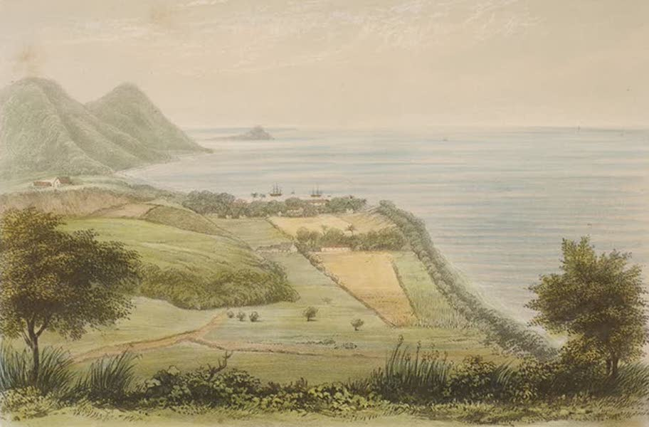 Views of the Island of Dominica - Roseau and Point Michell from Morne Bruce (1849)