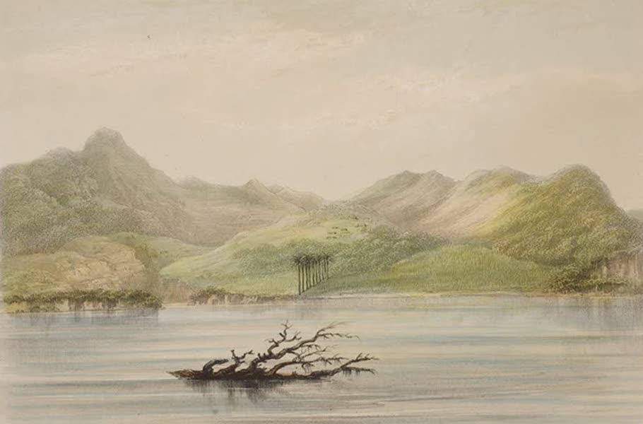 Views of the Island of Dominica - The Layeau Valley from the Sea (1849)