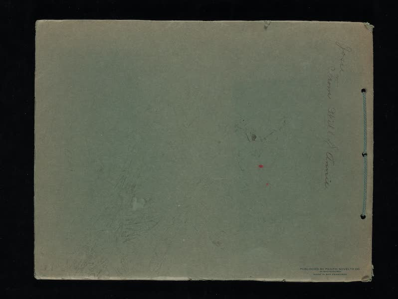 Views of the Panama Pacific International Exposition - Back Cover (1915)