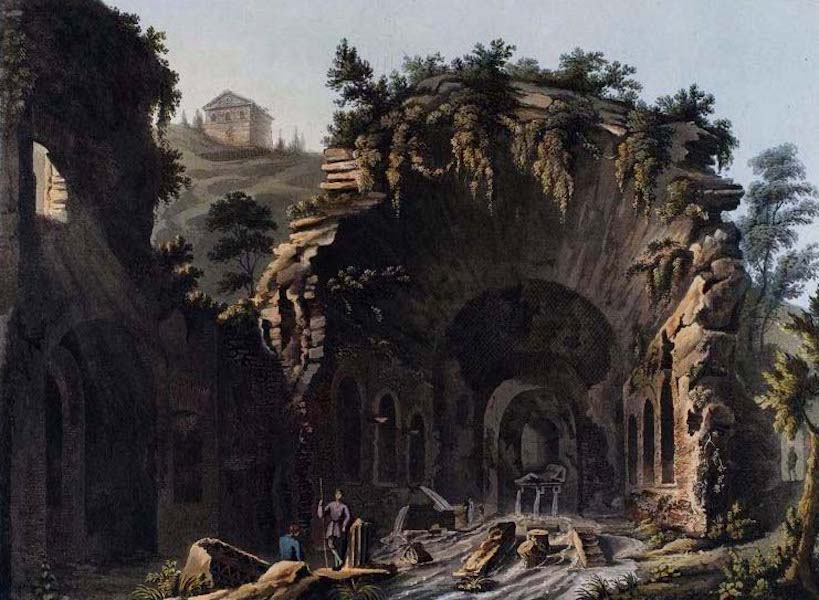 Views of the Remains of Ancient Buildings in Rome - Grotto of Egeria (1844)