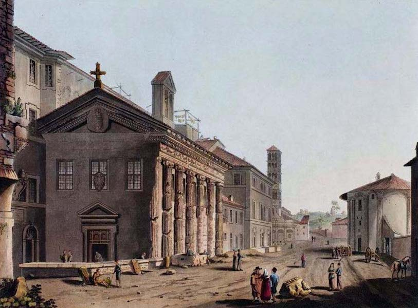 Views of the Remains of Ancient Buildings in Rome - Temple of Fortuna Virilis (1844)