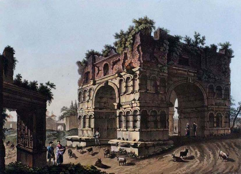 Views of the Remains of Ancient Buildings in Rome - Temple of Janus Quadrifons (1844)
