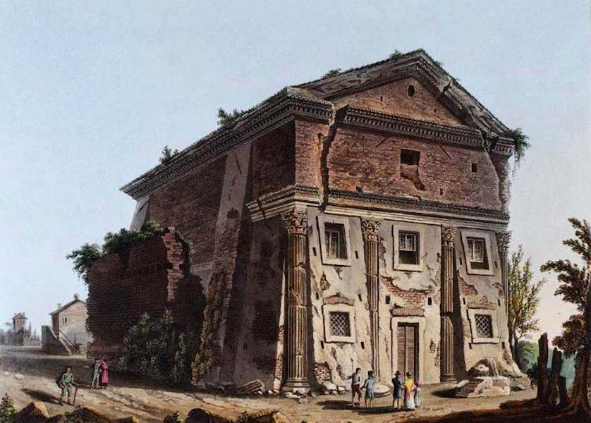 Views of the Remains of Ancient Buildings in Rome - Temple of Bacchus (1844)