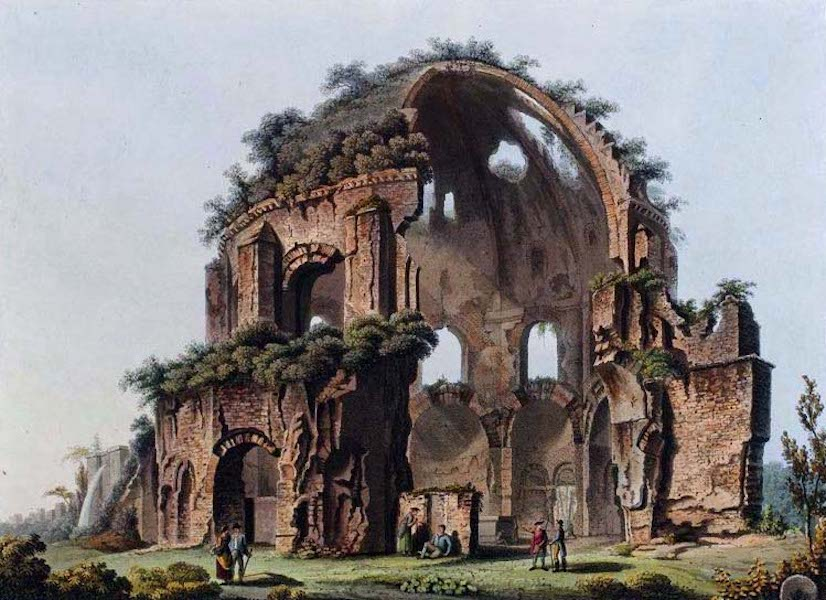 Views of the Remains of Ancient Buildings in Rome - Temple of Minerva Medica (1844)
