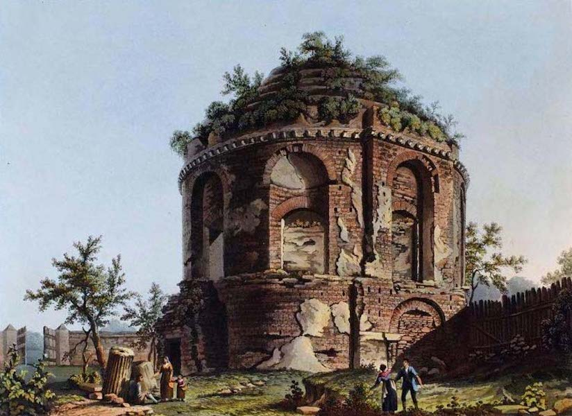 Views of the Remains of Ancient Buildings in Rome - Temple of the Dea Tussis (1844)
