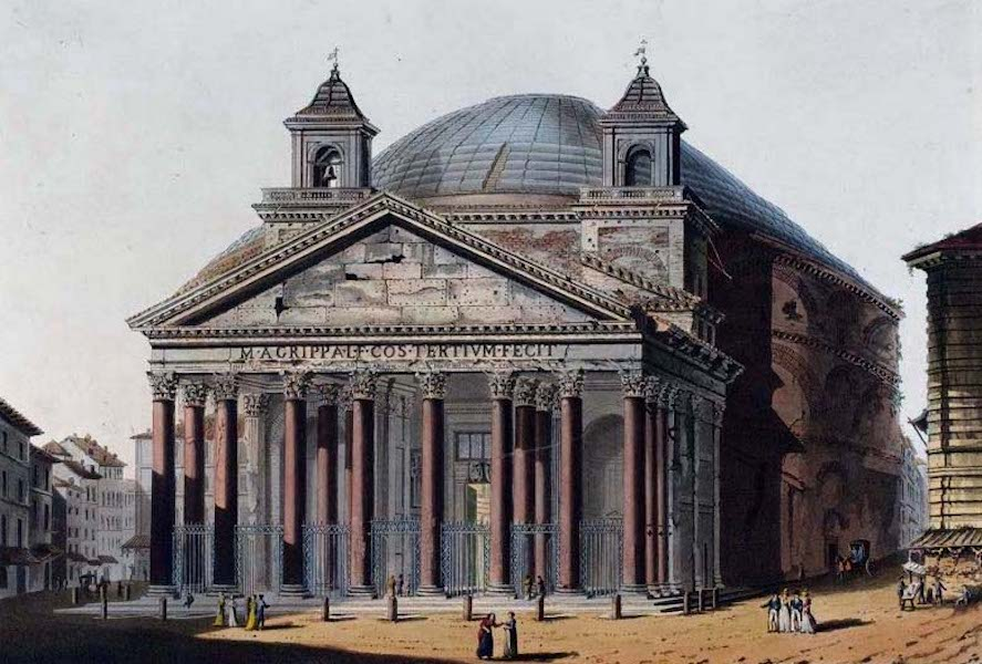 Views of the Remains of Ancient Buildings in Rome - The Pantheon (1844)