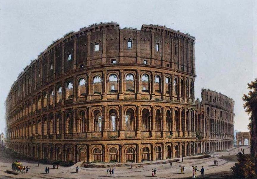 Views of the Remains of Ancient Buildings in Rome - The Coliseum [I] (1844)