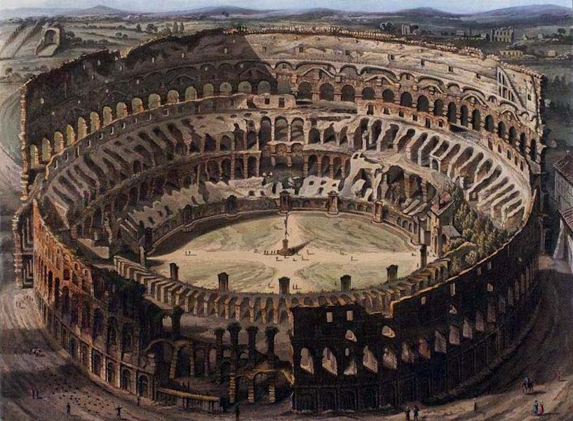Views of the Remains of Ancient Buildings in Rome - The Coliseum [II] (1844)