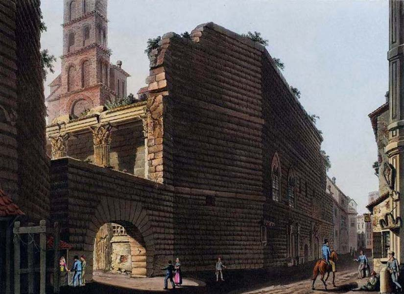 Views of the Remains of Ancient Buildings in Rome - Forum of Nerva (1844)