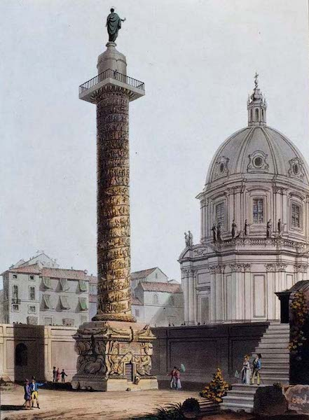 Views of the Remains of Ancient Buildings in Rome - Trajan's Column (1844)