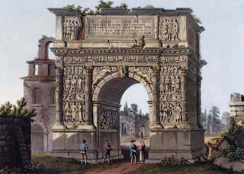 Views of the Remains of Ancient Buildings in Rome - Arch of Trajan at Benevento (1844)