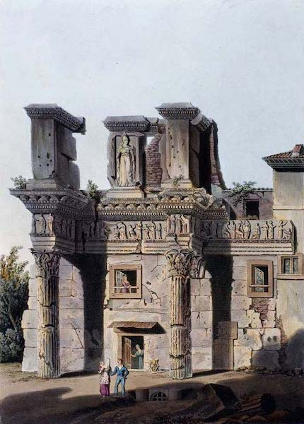 Views of the Remains of Ancient Buildings in Rome - Temple of Pallas (1844)